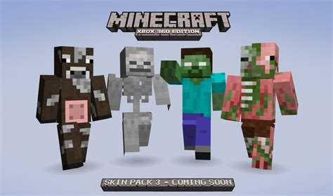 minecraft skins minecraft xbox 360 edition skin pack 3 coming soon xbox one xbox 360 news at