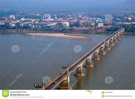 Nippon Town lao nippon bridge mekong river at southern lao town