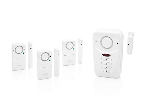 sabre wireless home security burglar alarm set includes