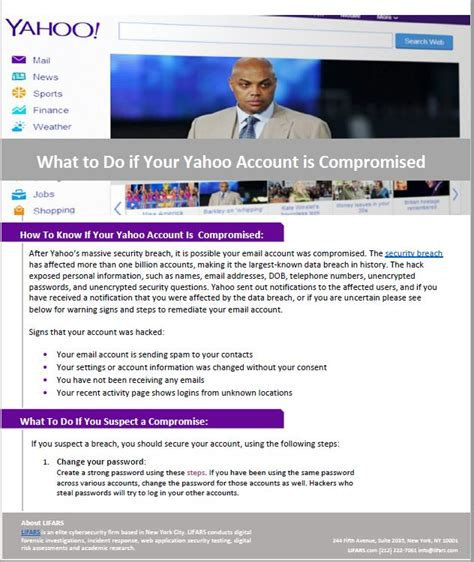 email yahoo hacked what to do what to do after the yahoo security breach email account