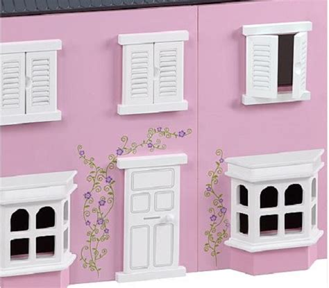 asda pink dolls house traditional pink wooden dolls house 163 35 asda