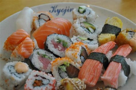 lots of sushi for lunch picture of kyojin buffet nabu