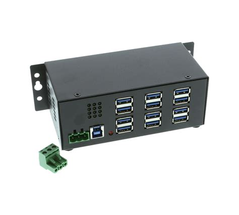Usb Port 3 0 mountable 12 port usb 3 0 powered industrial hub pc mac