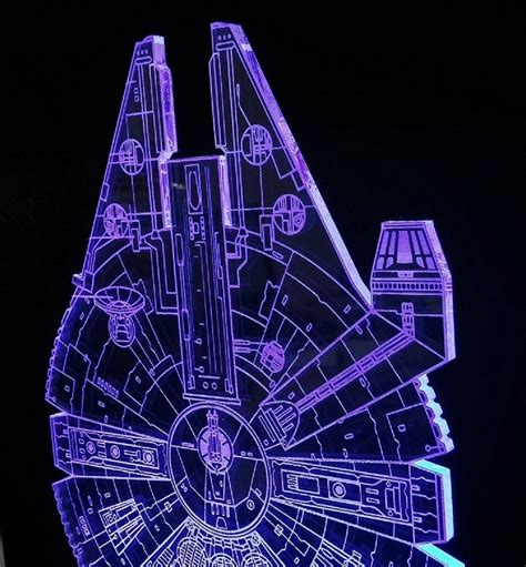star wars led light artistic star wars millennium falcon blueprints led desk