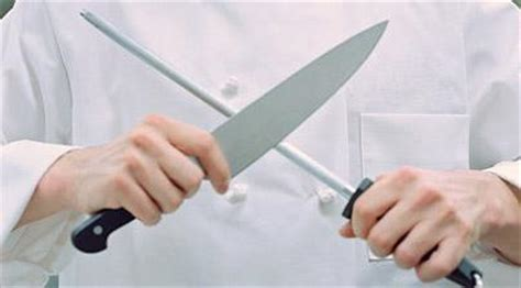 how do you sharpen kitchen knives is sharpening a knife on top of food dangerous would