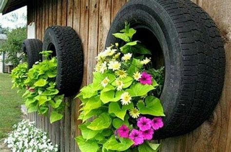 Tires As Planters by Tire Planters Gardening