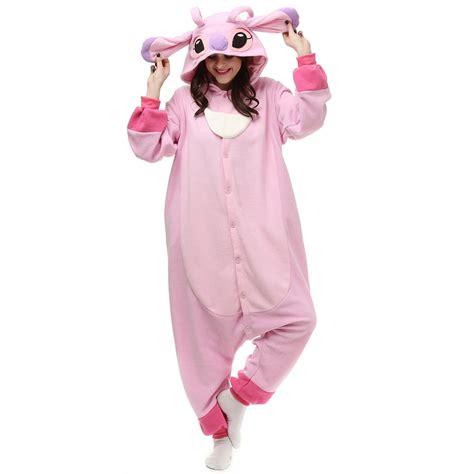 Jam Flanel Stitch Pink kigurumi pajamas cosplaymade co uk