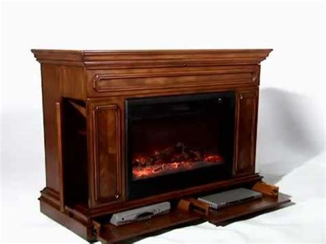 tv lift cabinet with fireplace remington tv lift cabinet youtube