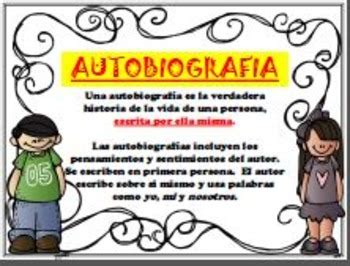 biography and autobiography poster biography autobiography posters anchor charts spanish