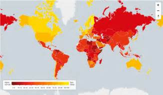 World Map Of Corruption by These Are The World S Least Corrupt Nations But Are They