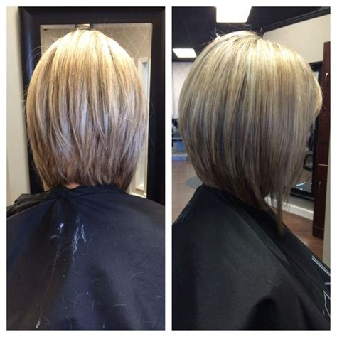 bob hairstyle at back and longer at front long inverted bob our stylist work pinterest