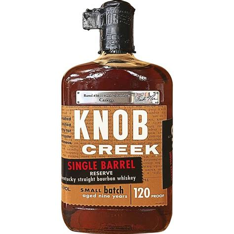 Knob Creek 120 Proof by Knob Creek Reserve Single Barrel Bourbon At Caskers Caskers