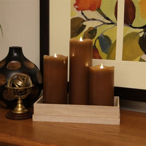 Candela Rechargeable Ls by Solare 3d Flameless Candles With Color Hue Technology