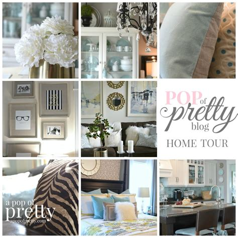 Home Decorating Bloggers | home tour a pop of pretty home decor blog a pop of