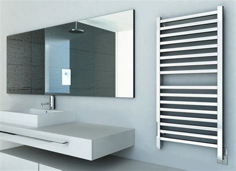 Contemporary Towel Warmer Amba Q 2042 Quadro Towel Warmer Modern Towel Warmers