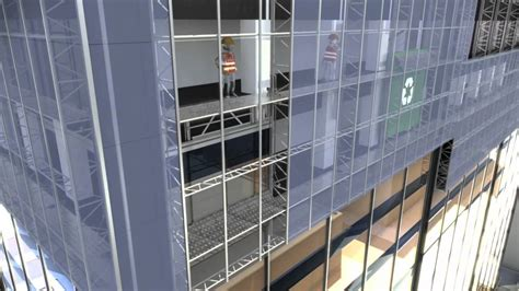 curtain wall installation the brunkeberg system for curtain wall re cladding youtube
