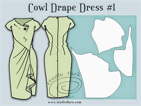 Draped Dress Pattern well suited pattern puzzle cowl draped dress