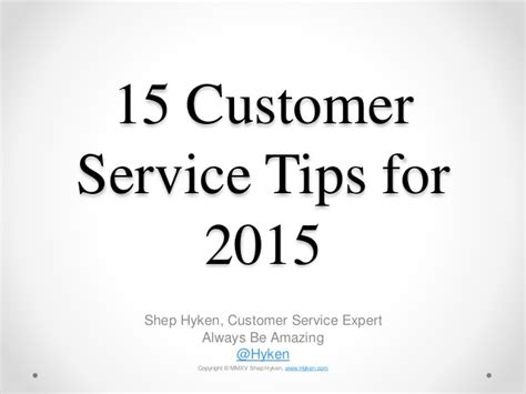 service tips 15 customer service tips for 2015