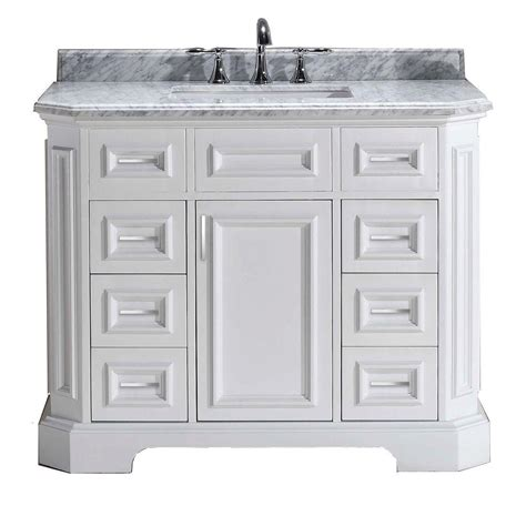 White Marble Vanity Top by Pegasus Bristol 42 In Vanity In White With Marble Vanity