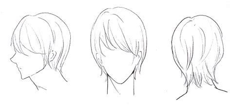 cara menggambar rambut cowok mayagami