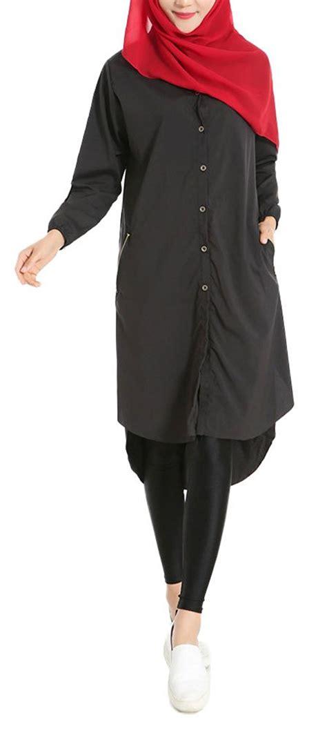 Plain Chiffon Shirt Dress plaid plain s summer chiffon muslim kaftan abayas