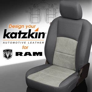 ram leather seats dodge ram katzkin leather seat upholstery kit shopsar