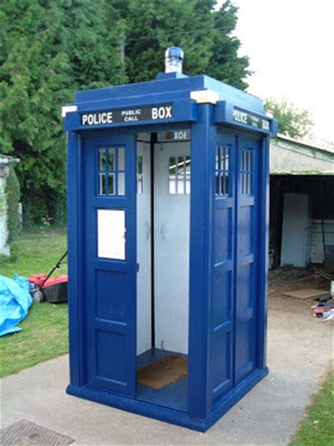 Tardis Garden Shed by Shedworking Around The Shedworld