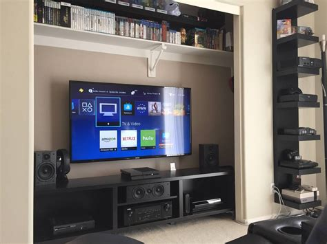 closet theater   home theater  gaming gamer