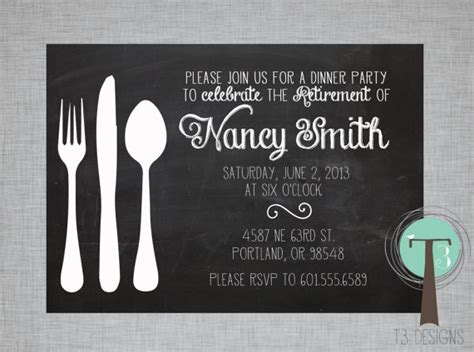 retirement lunch invitation template unavailable listing on etsy