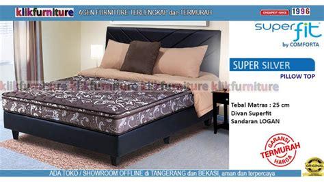 Silver Pillow Top Kasur 180x200cm Bigland Springbed Silver Superfit Logan By Comforta Springbed Diskon