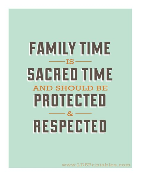 Family Time lds printables family time is sacred