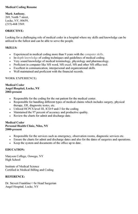 Coding Fresher Resume Format by Coding Resume Http Resumesdesign