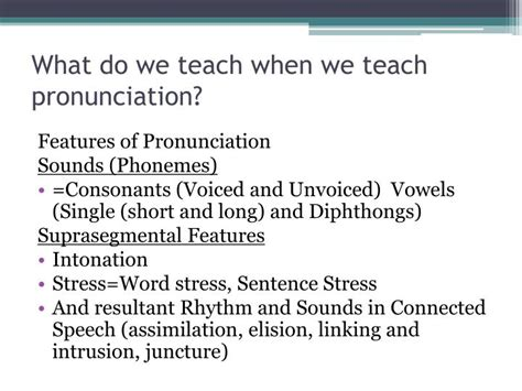 games for teaching word stress and intonation ppt video ppt teaching pronunciation powerpoint presentation id