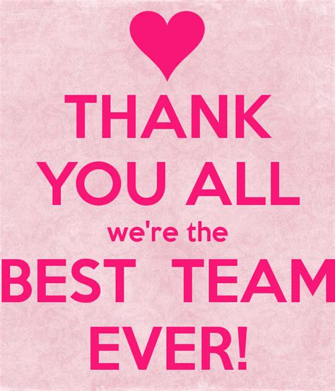we are the best thank you all we re the best team poster eireenw
