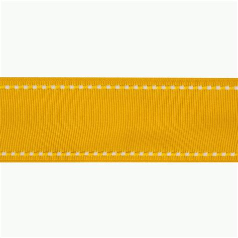 Upholstery Ribbon by 1 1 2 Grosgrain Ribbon Saddle Stitch Yellow White