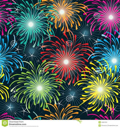 seamless pattern fireworks firework seamless pattern eps stock vector image 40397351