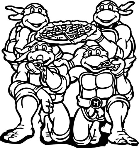 turtles coloring mutant turtles coloring pages birthday