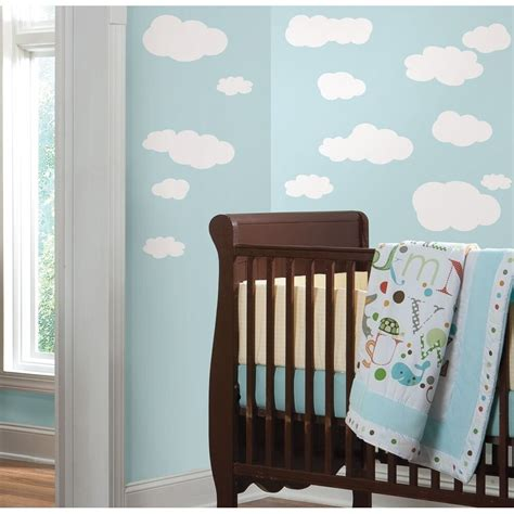 white clouds wall decals baby nursery sky stickers kids room decorations ebay