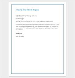 Response Letter After Follow Up Letter Template 10 Formats Sles Exles