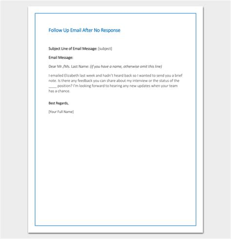 up letter reply follow up letter template 10 formats sles exles