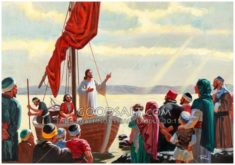 Jesus Teaching From a Boat Ephesians 1:11