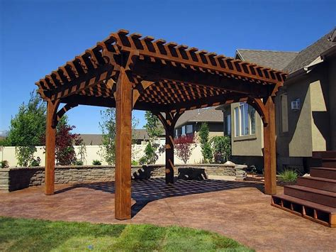 Timber Frame 20 X20 Full Size Pergola Kit Diy Pergola Kits Timber Frame Pergola Kits