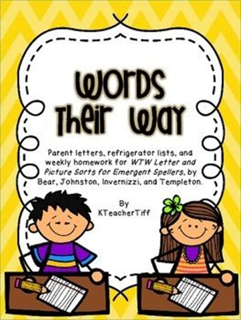Parent Letter Words Their Way Words Their Way For Emergent Spellers Homework Book A