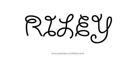 riley tattoo design name designs