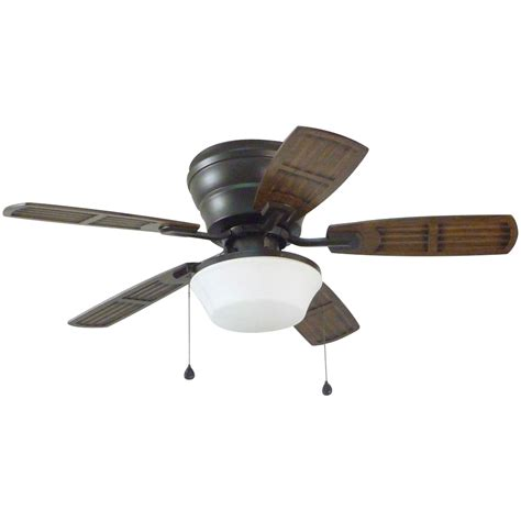 Shop Litex Mooreland 44 In Bronze Flush Mount Indoor Flush Mount Ceiling Fans With Light
