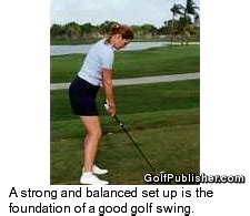 how to set up golf swing learn the essentials of the golf swing with karen palacios