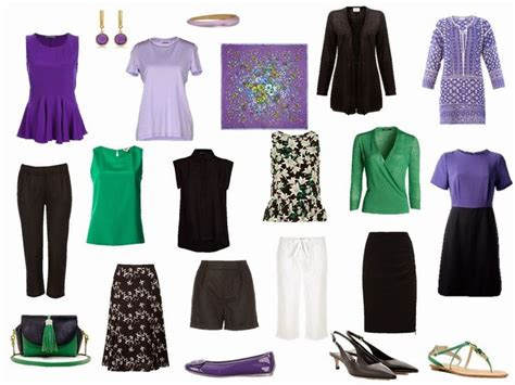 black and white capsule wardrobe summer travel capsule wardrobe in black white purple and
