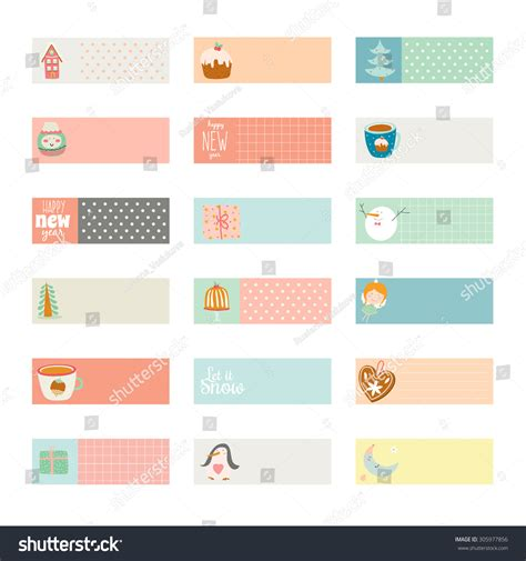 American Greeting Card Address Label Template by Vector Cards Notes Stickers Labels Stock Vector