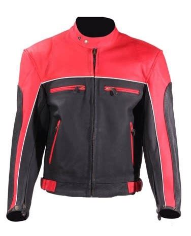 red and black motorcycle jacket mens black and red vented leather motorcycle jacket
