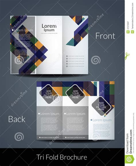 tri fold brochure design template stock vector image